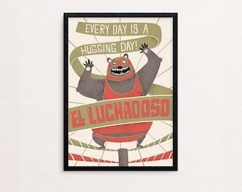 El Luchadoso | screenprint poster A2