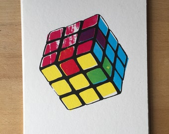 CMYK/RGB cube | mini screenprint poster