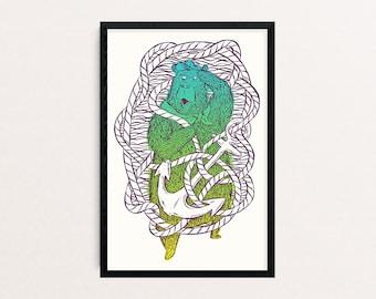 Seabear | screenprint poster 40 x 60 cm