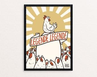 Laying Legend | digital print A5