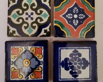 Mexican Tile Refrigerator Magnet Set of 4 strong neodymium #22 gift