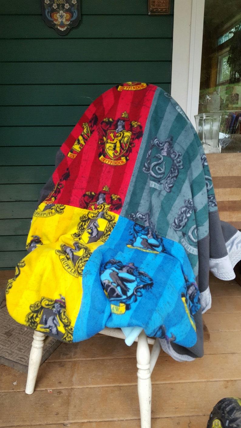 Harry Potter House Crests Anti Pill Fleece Blanket Hufflepuff Etsy