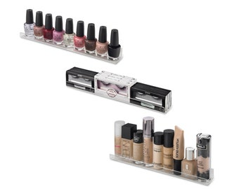wall lipstick holder etsy rh etsy com Nail Polish Organizer Wall Mount Nail Polish Display Shelves
