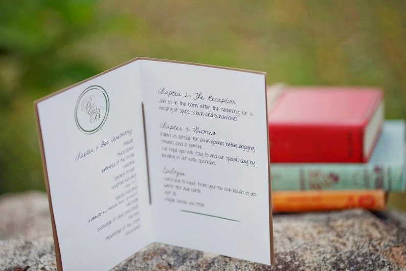 library themed wedding invitation bundle place cards  etsy