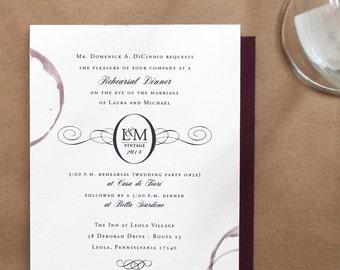 Wine Party Invitation - Vineyard Winery - DIY Printable - Rehearsal Dinner Invitation - Bachelorette Party Invitation - Wedding Invitation