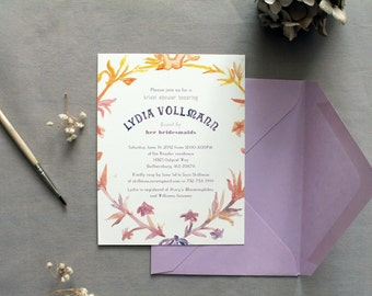 Printable Watercolor French Shower Invitation DIY