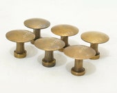 1.18 quot inches Lot of 6 pcs Vintage thumbtack tacks Round Knobs Handle Solid Brass Cabinet Knob Pull Handle N030