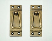 3.38 quot inches 2 pcs Vintage Retro Western Country Solid Brass Antique Cabinet Drawer Door Handle Pulls A059