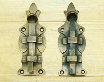 """3.93"""" inches Vintage Victorian Latch Lock Windows Antique Solid Brass Window Door LATCH W016"""