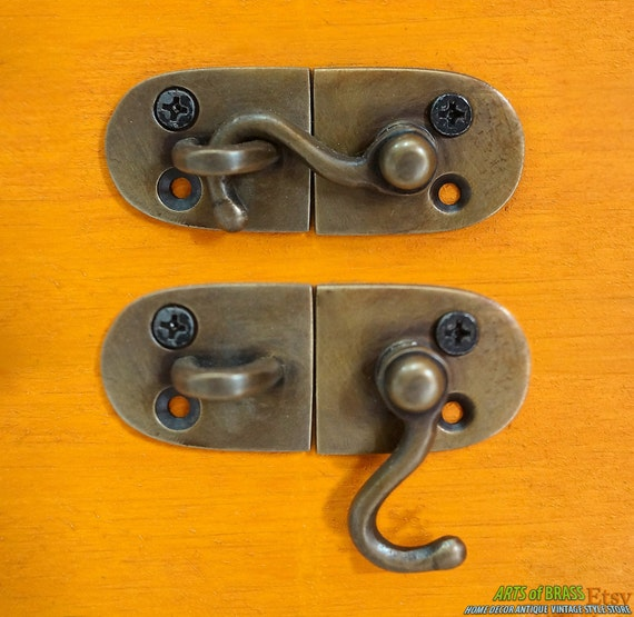 image 0 - 2.51 Inches Lot Of 2 Pcs Door LATCH Joint Hook Antique Etsy