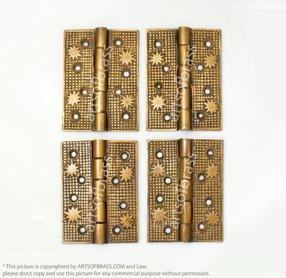 image 0 - 3.70 Inches Vintage Brass Star Hinge / Hinges Antique Etsy