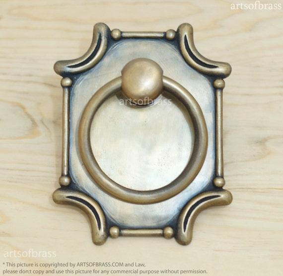 RARE small Pull handle Human Hand Door Knob Figurine Sculpture 1.65 inch Brass