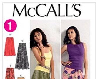 McCall's M6567 Misses' Elastic-Waist Skirts