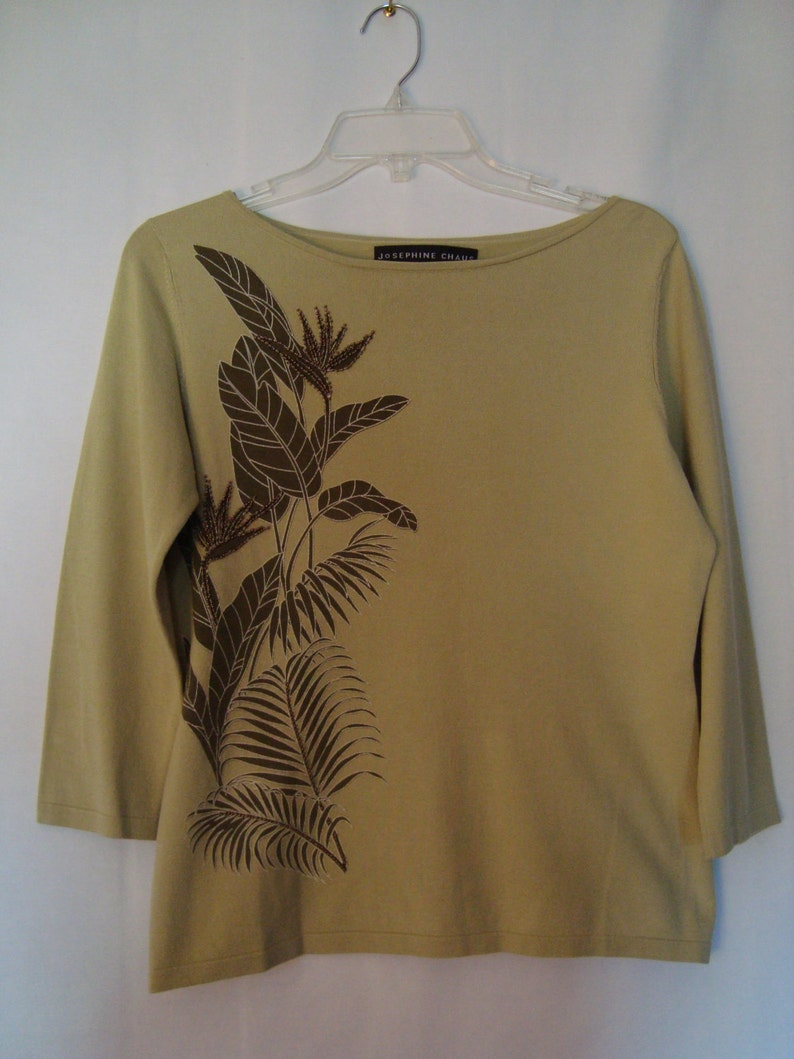 Chaus Womens 3//4 Sleeve Lace Mixed Media Top