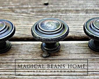 More Colors Distressed Black Silver Knob Industrial Drawer Knobs Farmhouse