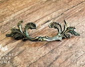 French Provincial Pulls KBC French Country Furniture Pull Antiqued Brass Drawer Pulls Wild Leaf Dresser Hardware Cabinet Drawer Pull Handles