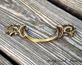 Vintage Drawer Pulls Brass Drawer Pulls Keeler Brass Co French Provincial Dresser Drawer Pull Decorative Gold Drawer Pulls Handles