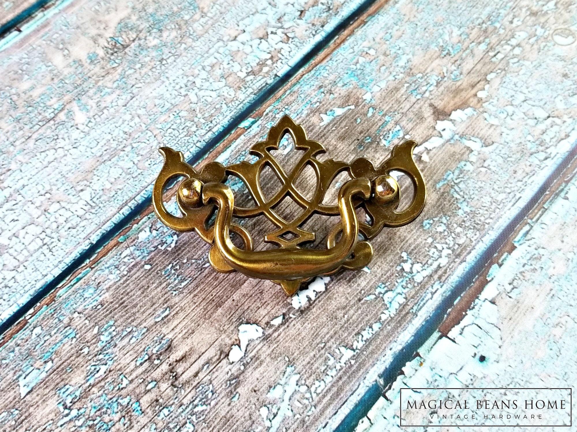 Chippendale Drawer Pulls Brass Drawer Pulls Vintage Drawer