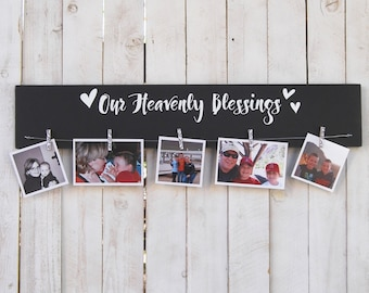 Our heavenly blessings, photo display, family, picture frame, photo, grandchildren, grandkids, cousins, anniversary gift, family display