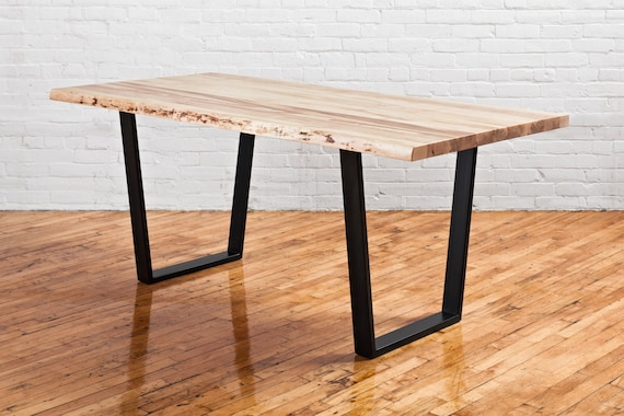 Fine Natural Live Edge Dining Table Made With Solid Canadian Maple Rustic Kitchen Table Custom Tables Available Handmade In Toronto Download Free Architecture Designs Licukmadebymaigaardcom