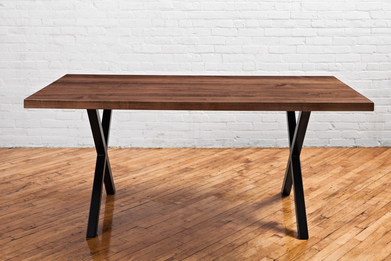 Sensational Straight Edge Solid Maple Dining Table Rustic Kitchen Table Handmade In Toronto Trapezoid Steel Legs Custom Options Available Ibusinesslaw Wood Chair Design Ideas Ibusinesslaworg