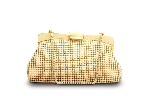 Vintage White Mesh Handbag; Evening Bag; Clutch