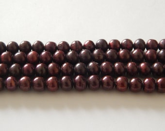 8mm FW Pearl Rounds Maroon
