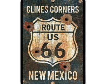 "Corvette Highway Route 66 Sign Oklahoma 12/"" Diecut"