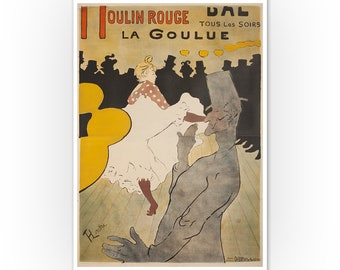 Moulin Rouge at Night Wall Art Print in Two Styles A4 Print