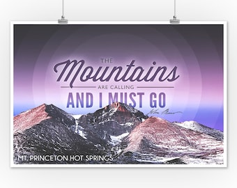 The Mountains are Calling Estes Park Colorado Posters, Wood /& Metal Signs