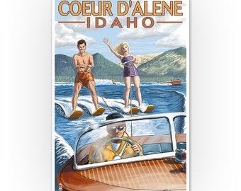 Coeur d/'Alene Idaho EASTERN Air Lines Beach Travel Poster Pin Up Art Print 052