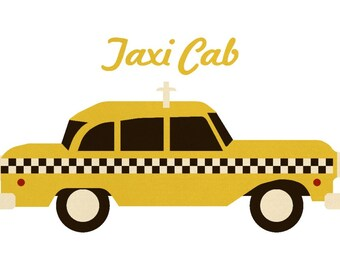 Taxi cab sign | Etsy