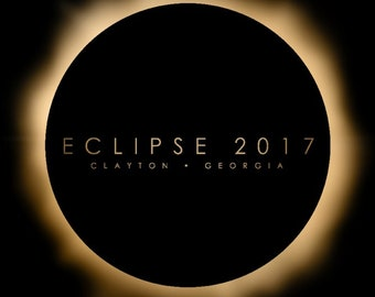 EC041 Georgia All Seeing Eye Total Solar Eclipse 2017 Souvenir Sticker