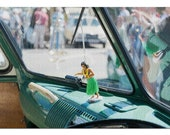 Interior of a Vintage Camper Van with a Hula Girl Doll on the Dashboard 9015146 (20x30 Premium 1000 Piece Jigsaw Puzzle, Made in USA )