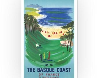 Vintage French Railways Saint Brieuc Tourism Poster Print A3//A4