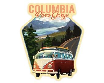 24x36 Gallery Quality Metal Art Columbia River Gorge Camper Van