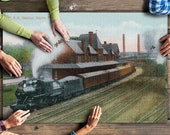 Sayre, Pennsylvania - Lehigh Valley Railroad Station (20x30 Premium 1000 Piece Jigsaw Puzzle, Made in USA )