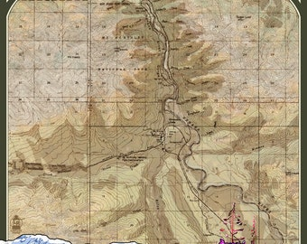 Denali map | Etsy on