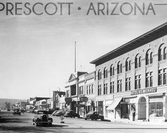 cc7fc288e Prescott, Arizona - Montezuma St, Whiskey Row (Art Prints, Wood & Metal  Signs, Canvas, Tote Bag, Towel)