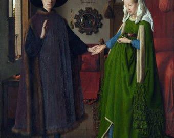 The Arnolfini Portrait - (Artist: Jan van Eyck c.1434) - Masterpiece Classic (Art Print - Multiple Sizes Available)
