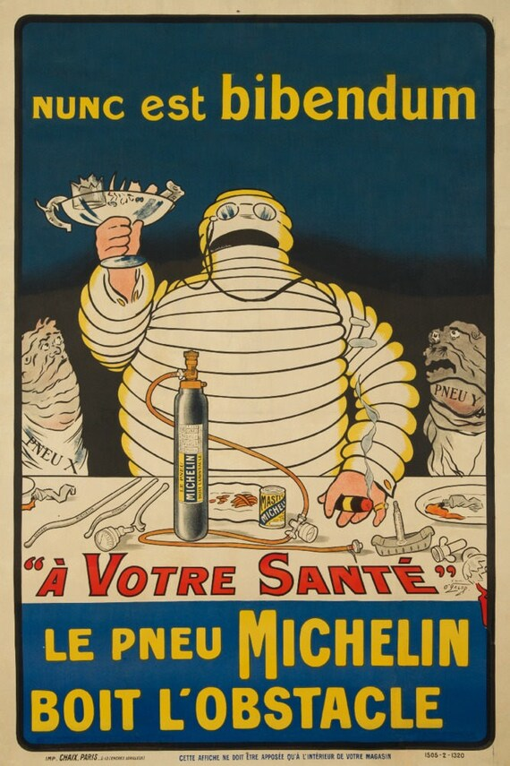 Le Pneu Michelin Nunc est bibendum artist: O\'Galup | Etsy