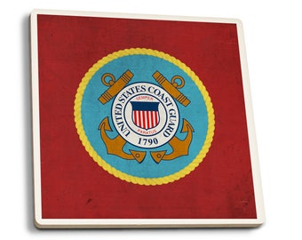 United States Coast Guard - Military - Insignia (Set of 4 Ceramic Coasters)