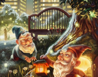 Gnomes in the City (Art Prints available in multiple sizes)