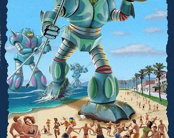 Venice Beach, California - Atlantean Invaders (Art Prints available in multiple sizes)