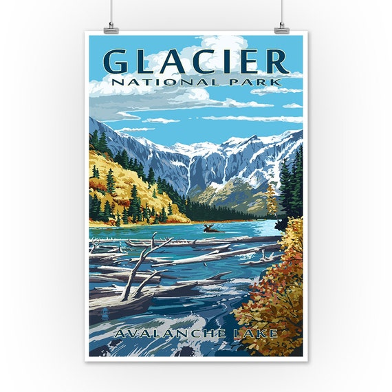 Large Letter Scenes Flathead Lake 36x54 Giclee Gallery Print, Wall Decor Travel Poster Montana
