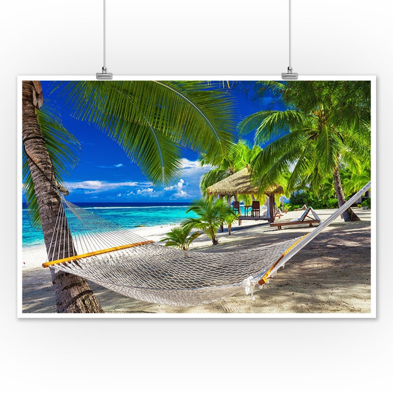 Cook Islands Rarotonga Beach: Hammock Tropical Beach Of Rarotonga Cook Islands South