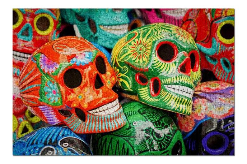 Colorful Sugar Skulls Stacked 9005745 19x26 Premium 1000 image 0
