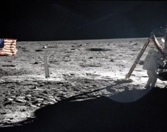Neil Armstrong On The Moon Photograph (Art Prints available in multiple sizes)