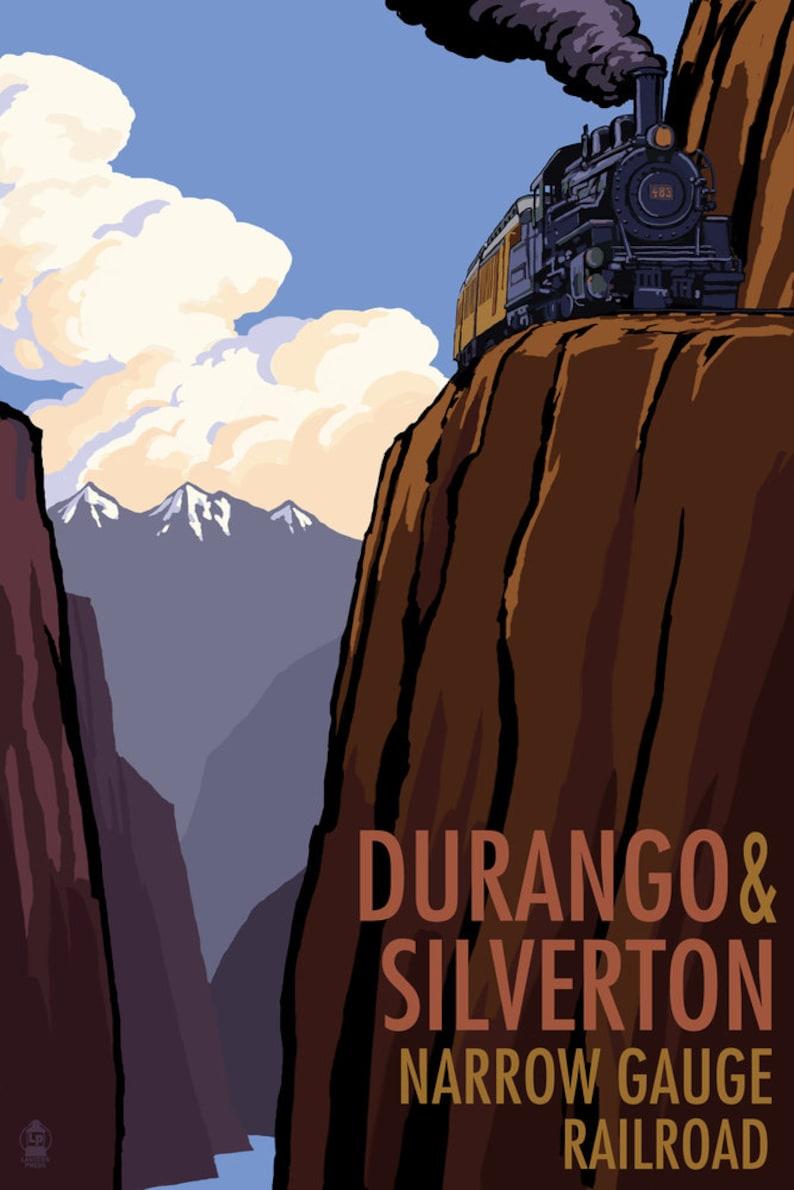 Durango and Silverton Narrow Gauge Railroad (Art Prints, Wood & Metal  Signs, Canvas, Tote Bag, Towel)