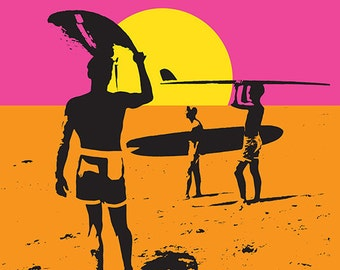 Malibu, California - The Endless Summer - Original Movie Poster (Art Prints available in multiple sizes)